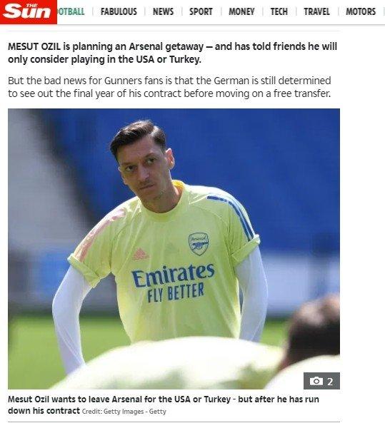 1594303343869 - Mesut Özil ABD ya da Türkiye'de oynamak istiyor!