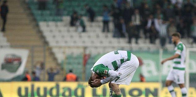 Bursaspor bu sezon sahasında ilk kez puan kaybetti