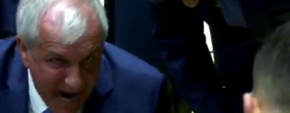 Zeljko Obradovic'in Kostas Sloukas'a çok sert tepki!